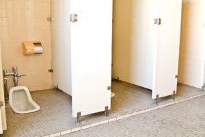 清潔感の無いトイレ