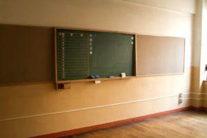 地味に便利な後ろの黒板